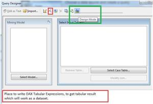 DMX or DAX Query Designer In SSRS
